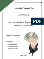 Import ancia de La Tarjeta de Credito