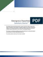 Solutions Starter Emergency Department