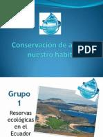 Conservación de agua en nuestro habitat