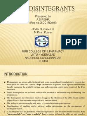 Super Disintegrants | Tablet (Pharmacy) | Pharmaceutical Formulation