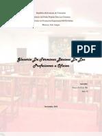 Glosario de profesiones u oficios