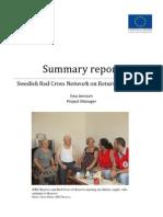 Swedish Red Cross Network on Return 2010-2011