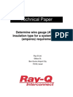 White Paper - Determine Wire Gauge Insulation Type for a System Current Requirement Rev A