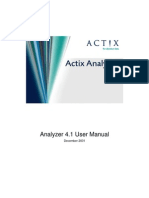 Actix Analyzer v4.1 User Manual 1.0