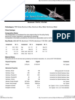 7178-T6511 Property - ASM Material Data Sheet