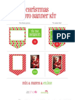 How Does She Christmas Banner Kit