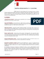 Aztecsoft Financial Results Q2 09