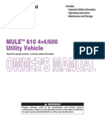 Kawasaki 610 Mule Owner's Manual