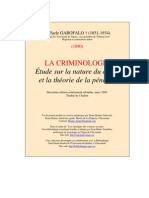 Garofalo La Criminologie