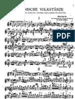 Bartok - Danzas Rumanas (Violin and Piano)