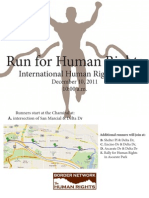 Run for Human Rights In El Paso - flyer