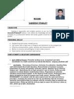 Resume Sadeesh