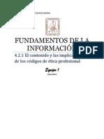El contenido y las implicaciones de los códigos de ética profesional