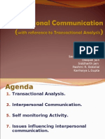 transactional analysis and interpersonal communication