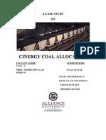 Cinergy Coal Allocation