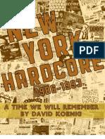 New York Hardcore 1986 - 1993