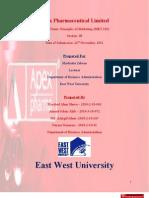 Apex Pharmaceutical Marketing Assaignment