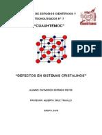 DEFECTOS SISTEMAS CRISTALINOS