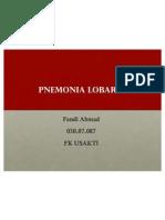 Case Pnemonia Lobaris - Fandi