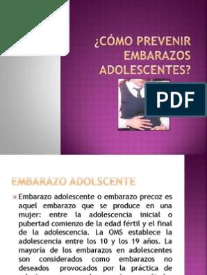 Cómo evitar el embarazo adolescente