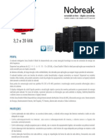 Catalogo de Nobreak SMS Sinus Double II Black 3,2 a 20 kVA (20904 111106)