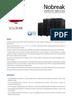 Catalogo de Nobreak SMS Sinus Double II Black 3,2 a 20 kVA (20904 111106)