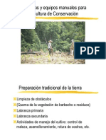 herramientas y equipos manuales para la agricultura de conservacion