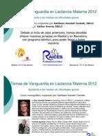 Temas de Vanguardia en Lactancia Materna 2012 - Programa e Inscripcion