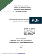 Sexualidade e Crença Religiosa Dissertação PDF