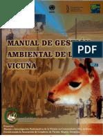 MANUAL DE GESTION AMBIENTAL DE LA VICUÑA