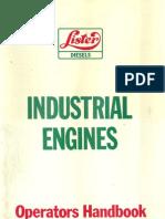 Lister Diesels, Industrial Engines, Operator's Handbook, 1984