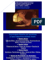 Filosofia Grega Principais Pré-socráticos e Pitágoras