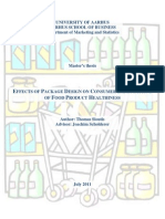 Effects of Package Design on Consumer Expectations of Food Product Healthiness