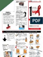 Triptico VIH-SIDA