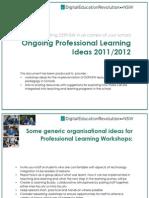 DERNSW Professional Learning Ideas - 2011/12