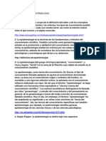 CONCEPTOS DE EPISTEMILOGIA