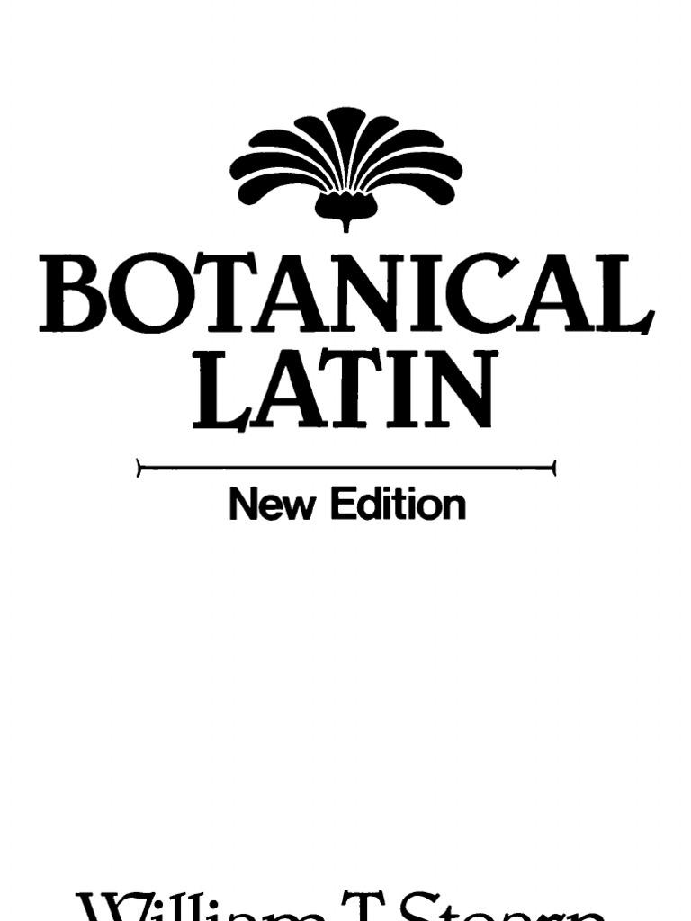 Stern1985 Botanical Latin