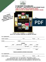 Fellowship Place ArtShip Calendar Order Form 2012