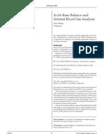 Acid–Base Balance and arterial blood gas analisys