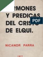 Nicanor Parra - Sermones y Predicas Del Cristo de Elqui