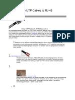 How to Crimp UTP Cables to RJ
