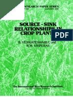 IRPS 125 Source-sink  relationships in crop plants