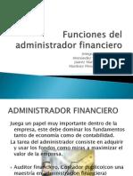 Funciones Del Administrador Financiero