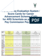 ASRB CAS Master Score Card