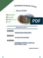 Modelo de Programacion Lineal en Lingo 9.0