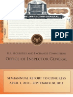 SEC OIG Report to Congress April 2011-Sept 2011