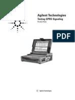 Agilent Testing GPRS Signalling
