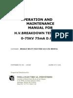 Operation & Maintanance Manual