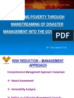 Reducing Poverty Through Mainstreaming Of Disaster Management Into The Governance