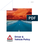 060816 Generic Driver Vehicle Policy Doc